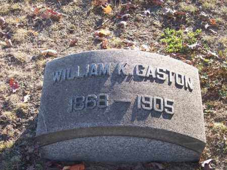 GASTON, WILLIAM K. - Columbiana County, Ohio | WILLIAM K. GASTON - Ohio Gravestone Photos