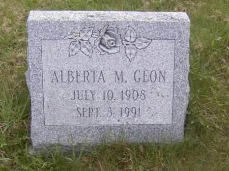 GEON, ALBERTA M. - Columbiana County, Ohio | ALBERTA M. GEON - Ohio Gravestone Photos