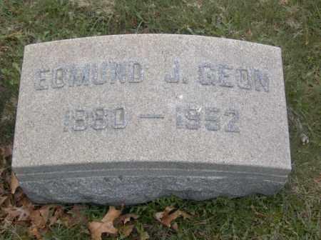 GEON, EDMUND J. - Columbiana County, Ohio | EDMUND J. GEON - Ohio Gravestone Photos