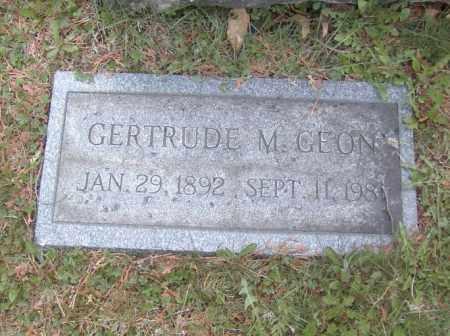 GEON, GERTRUDE M. - Columbiana County, Ohio | GERTRUDE M. GEON - Ohio Gravestone Photos