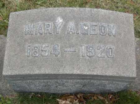 GEON, MARY A. - Columbiana County, Ohio | MARY A. GEON - Ohio Gravestone Photos