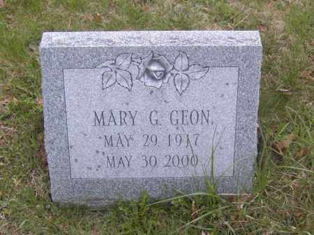 GEON, MARY G. - Columbiana County, Ohio | MARY G. GEON - Ohio Gravestone Photos