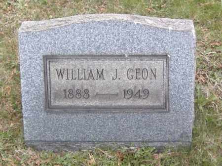 GEON, WILLIAM J. - Columbiana County, Ohio | WILLIAM J. GEON - Ohio Gravestone Photos