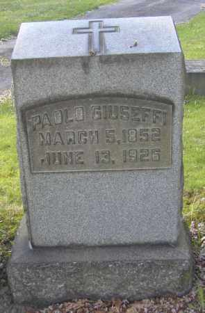 GIUSEFFI, PAOLO - Columbiana County, Ohio | PAOLO GIUSEFFI - Ohio Gravestone Photos