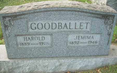 GOODBALLET, JEMIMA A - Columbiana County, Ohio | JEMIMA A GOODBALLET - Ohio Gravestone Photos