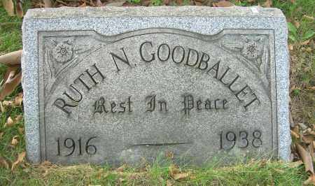 GOODBALLET, RUTH N - Columbiana County, Ohio | RUTH N GOODBALLET - Ohio Gravestone Photos