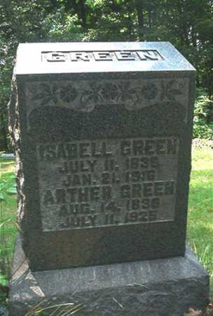 GREEN, ISABELL - Columbiana County, Ohio | ISABELL GREEN - Ohio Gravestone Photos