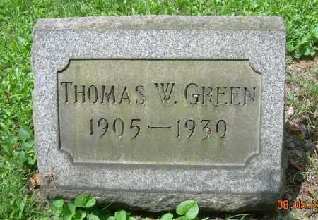 GREEN, THOMAS W - Columbiana County, Ohio | THOMAS W GREEN - Ohio Gravestone Photos