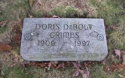 DEBOLT GRIMES, DORIS - Columbiana County, Ohio | DORIS DEBOLT GRIMES - Ohio Gravestone Photos