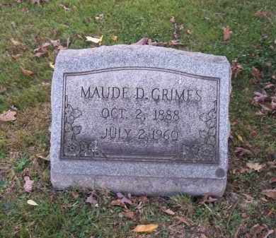 GRIMES, MAUDE E. - Columbiana County, Ohio | MAUDE E. GRIMES - Ohio Gravestone Photos