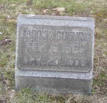 GUTHRIE, AARON R. - Columbiana County, Ohio | AARON R. GUTHRIE - Ohio Gravestone Photos