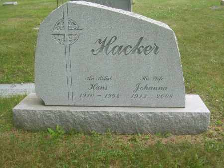HACKER, JOHANNA - Columbiana County, Ohio | JOHANNA HACKER - Ohio Gravestone Photos