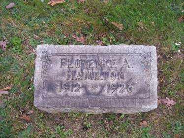 HAMILTON, FLORENCE A. - Columbiana County, Ohio | FLORENCE A. HAMILTON - Ohio Gravestone Photos