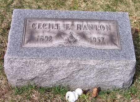 HANLON, CECILE E. - Columbiana County, Ohio | CECILE E. HANLON - Ohio Gravestone Photos