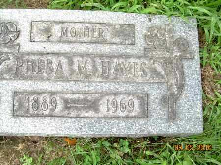 HAYES, PHEBA M - Columbiana County, Ohio | PHEBA M HAYES - Ohio Gravestone Photos