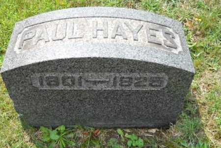 HAYES, PAUL - Columbiana County, Ohio | PAUL HAYES - Ohio Gravestone Photos