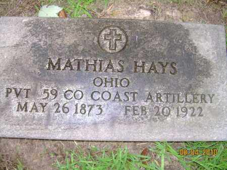 HAYS, MATHIAS - Columbiana County, Ohio | MATHIAS HAYS - Ohio Gravestone Photos
