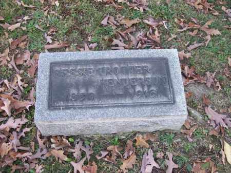 TROTTER HENDERSON, BESSIE - Columbiana County, Ohio | BESSIE TROTTER HENDERSON - Ohio Gravestone Photos