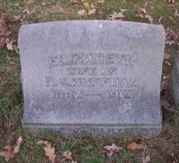 HUFFMAN, ELIZABETH - Columbiana County, Ohio | ELIZABETH HUFFMAN - Ohio Gravestone Photos