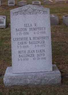 HUMPHREY, ELLA R. - Columbiana County, Ohio | ELLA R. HUMPHREY - Ohio Gravestone Photos