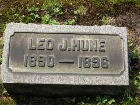 HUNE, LEO J. - Columbiana County, Ohio | LEO J. HUNE - Ohio Gravestone Photos
