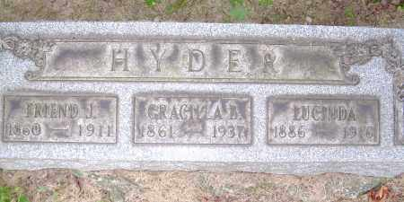 HYDER, GRACILLA B - Columbiana County, Ohio | GRACILLA B HYDER - Ohio Gravestone Photos