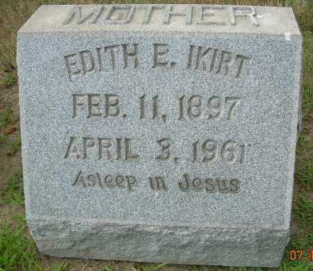 IKIRT, EDITH E - Columbiana County, Ohio | EDITH E IKIRT - Ohio Gravestone Photos