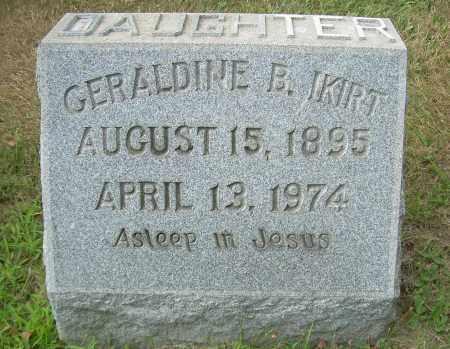 IKIRT, GERALDINE B - Columbiana County, Ohio | GERALDINE B IKIRT - Ohio Gravestone Photos