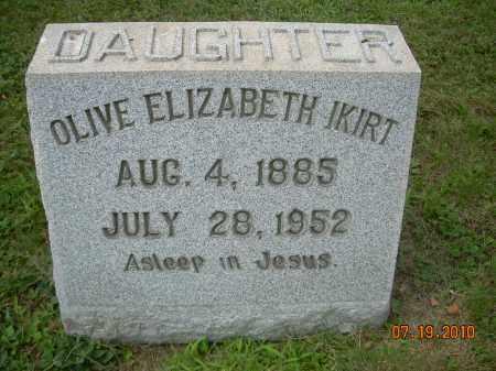 IKIRT, OLIVE ELIZABETH - Columbiana County, Ohio | OLIVE ELIZABETH IKIRT - Ohio Gravestone Photos