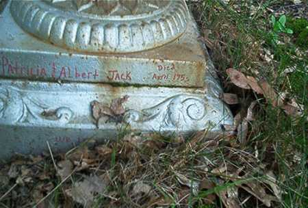 JACK, ALBERT - Columbiana County, Ohio | ALBERT JACK - Ohio Gravestone Photos
