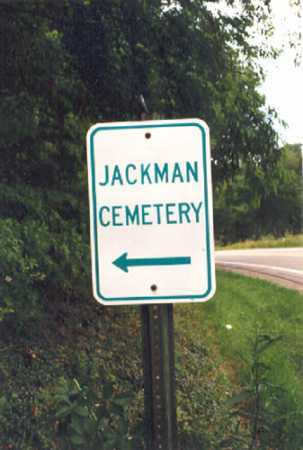JACKMAN, CEMETERY SIGN - Columbiana County, Ohio | CEMETERY SIGN JACKMAN - Ohio Gravestone Photos