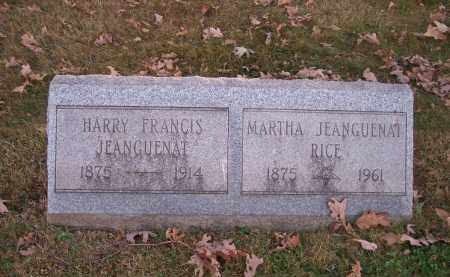 JEANGUENAT, HARRY FRANCIS - Columbiana County, Ohio | HARRY FRANCIS JEANGUENAT - Ohio Gravestone Photos