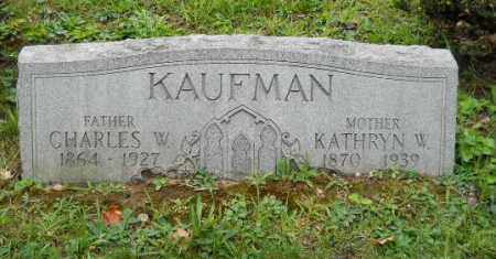 KAUFMAN, CHARLES W - Columbiana County, Ohio | CHARLES W KAUFMAN - Ohio Gravestone Photos