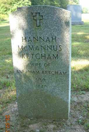 KETCHAM, HANNAH - Columbiana County, Ohio | HANNAH KETCHAM - Ohio Gravestone Photos