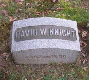KNIGHT, DAVID W. - Columbiana County, Ohio | DAVID W. KNIGHT - Ohio Gravestone Photos