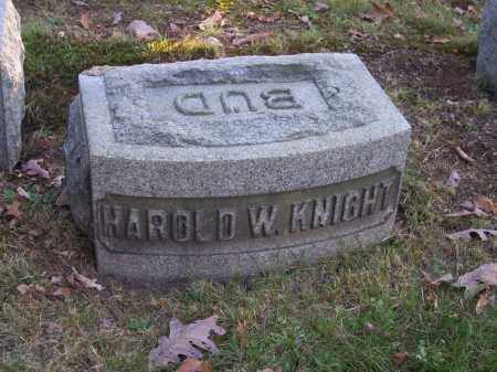 KNIGHT, HAROLD W. - Columbiana County, Ohio | HAROLD W. KNIGHT - Ohio Gravestone Photos
