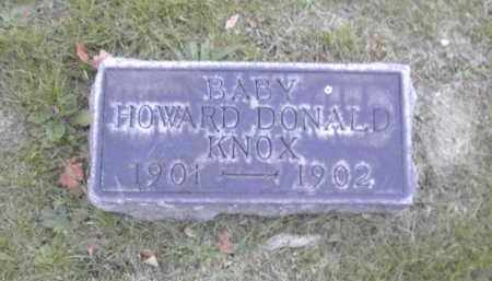 KNOX, HOWARD DONALD - Columbiana County, Ohio | HOWARD DONALD KNOX - Ohio Gravestone Photos