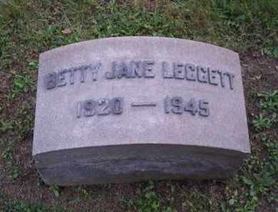 LEGGETT, BETTY JANE - Columbiana County, Ohio | BETTY JANE LEGGETT - Ohio Gravestone Photos