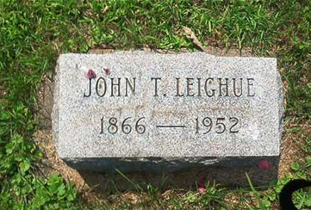 LEIGHUE, JOHN T. - Columbiana County, Ohio | JOHN T. LEIGHUE - Ohio Gravestone Photos