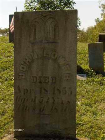 LOWER, JOHN B - Columbiana County, Ohio | JOHN B LOWER - Ohio Gravestone Photos