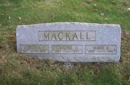 MACKALL, MARIE E. - Columbiana County, Ohio | MARIE E. MACKALL - Ohio Gravestone Photos