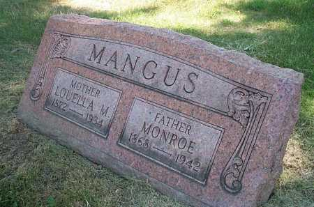MANGUS, MONROE(ROY) - Columbiana County, Ohio | MONROE(ROY) MANGUS - Ohio Gravestone Photos