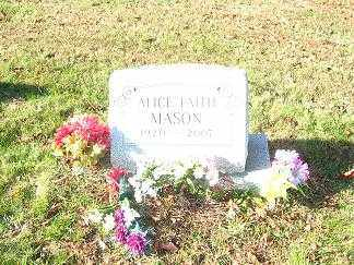 WITHROE MASON, ALICE FAITH - Columbiana County, Ohio | ALICE FAITH WITHROE MASON - Ohio Gravestone Photos