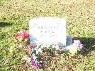 MASON, ALICE FAITH - Columbiana County, Ohio | ALICE FAITH MASON - Ohio Gravestone Photos