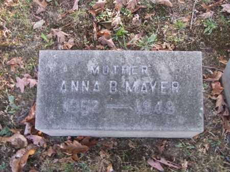 MAYER, ANNA B. - Columbiana County, Ohio | ANNA B. MAYER - Ohio Gravestone Photos