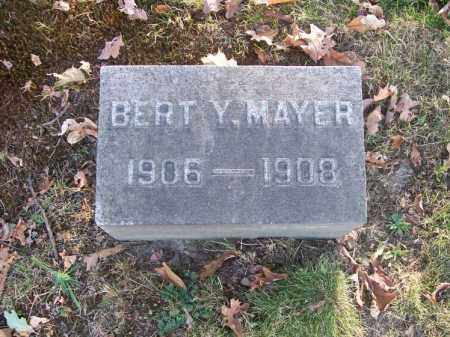 MAYER, BERT Y. - Columbiana County, Ohio | BERT Y. MAYER - Ohio Gravestone Photos