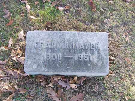 MAYER, FRANK R. - Columbiana County, Ohio | FRANK R. MAYER - Ohio Gravestone Photos