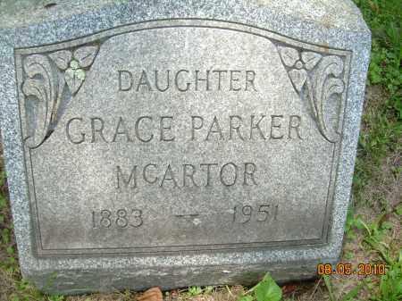 PARKER MCARTOR, GRACE - Columbiana County, Ohio | GRACE PARKER MCARTOR - Ohio Gravestone Photos