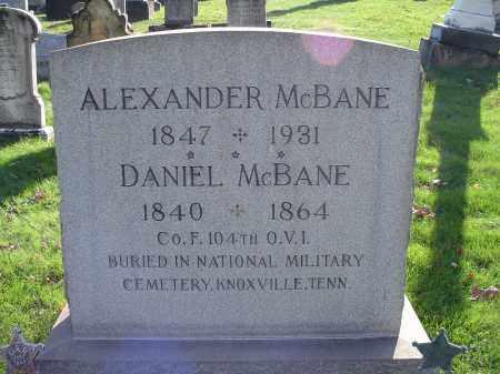 MCBANE, ALEXANDER - Columbiana County, Ohio | ALEXANDER MCBANE - Ohio Gravestone Photos