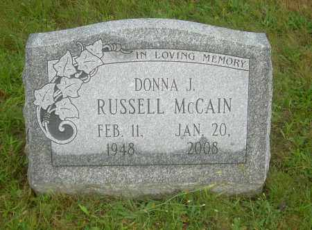 MCCAIN, DONNA J - Columbiana County, Ohio | DONNA J MCCAIN - Ohio Gravestone Photos
